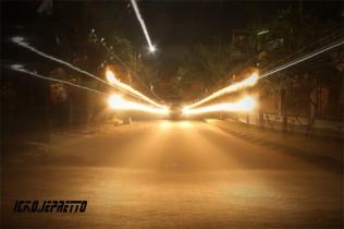 Sinar Laser Dari Mobil